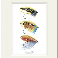 Salmon Flies Print by Maria Gonzalez